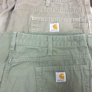 2 Pair Of Woman's Carhartt Carpenter Shorts